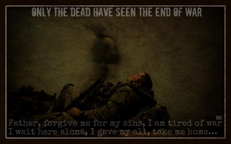 Fallen Warrior Sees End Of War American Truths Inspiration Fallen Soldier Quotes