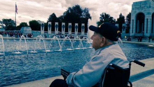 WWII Veteran at WWII Memorial